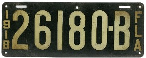 1918 plate