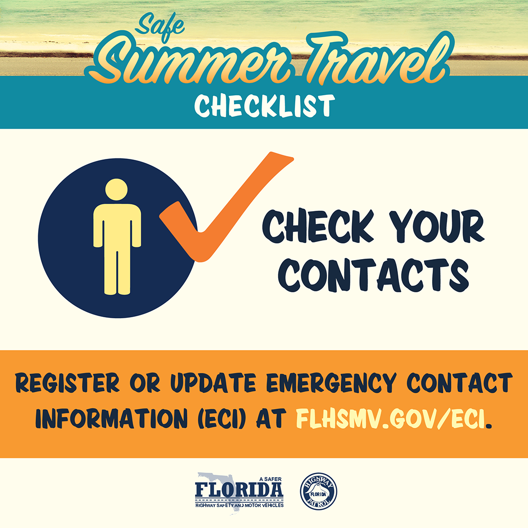 Safe Summer Travel Social Check Your Contacts