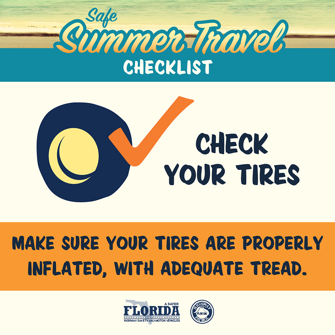 Safe Summer Travel Social Check Your Tires