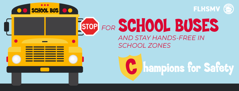 Stop for School Buses and Stay Hands-Free in School Zones
