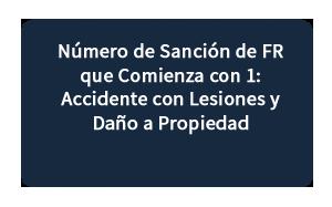 Número de Sanción de FR que Comienza con 1