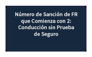 Número de Sanción de FR que Comienza con 2
