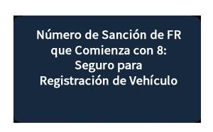 Número de Sanción de FR que Comienza con 8