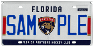 Florida Panthers Specialty License Plate