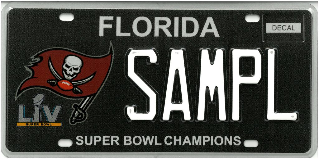 Tampa Bay Buccaneers Specialty License Plate