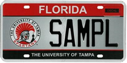 Redesigned university of tampa specialty plate now for Fl department of highway safety and motor vehicles