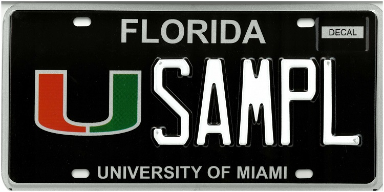 University of Miami Plate