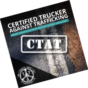 image of certified trucker against trafficking