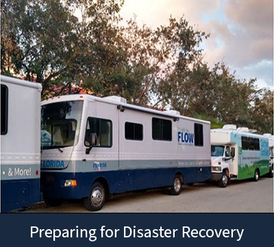 FLOW busses preparing for disaster recovery