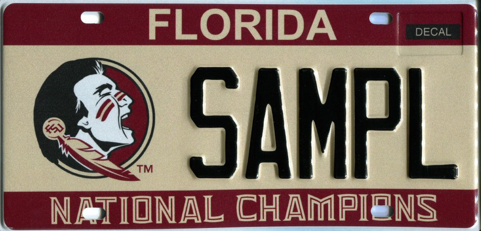 Redesigned Fsu Specialty License Plate Goes On Sale