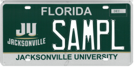 jacksonville university plate