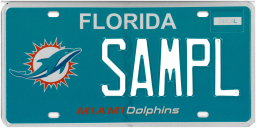 miami dolphins plate