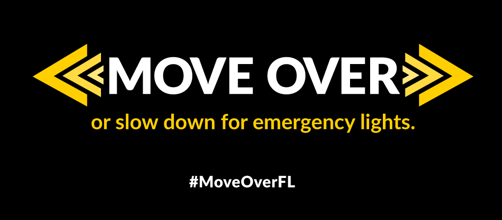 Move Over or slow down for emergency lights
