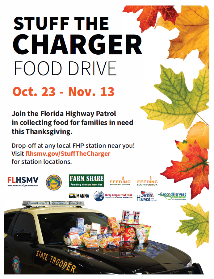 Stuff the Charger Food Drive - October 23 through November 13